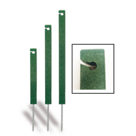 Eco Line Recycled Green Square Rope Stakes with Spike
