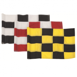 Pattisson 400 Denier Sewn Chequered Tubelock Flags – Set of 9
