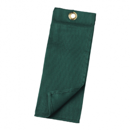 Cotton Tee Towels Tri-Folded Green (Dozen)