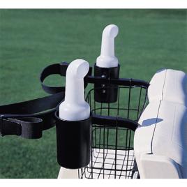 Standard Golf Cart Mounted Seed & Soil Caddie Black