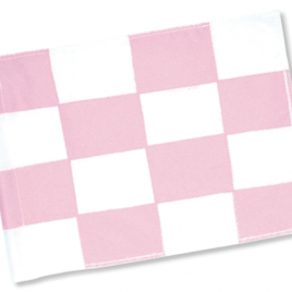 Pink & White Chequered Tubelock Flags (Set of 9)