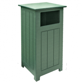 Eco Line Recycled 16 Gallon Square Litter Bin