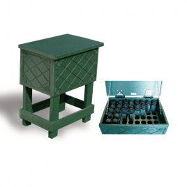 Eco Line Recycled Divot Tube Storage Box Green Complete with 40 bottles