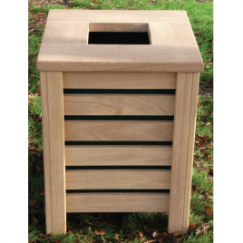 Open Top Bin with Fully Slatted Sides