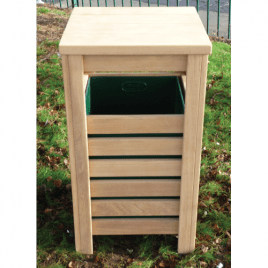 Flat Top Bin with Slatted Sides