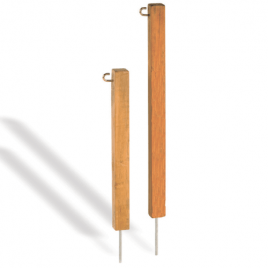 Pattisson Teak Chain Rope Stakes with Spike & Hook