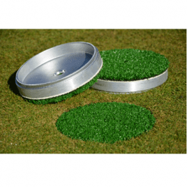 6″ Alloy Winter Cup Cover with Artificial Grass Top