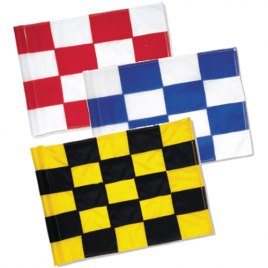 SG Nylon 200 Denier Sewn Chequered Tubelock Flags – Set of 9