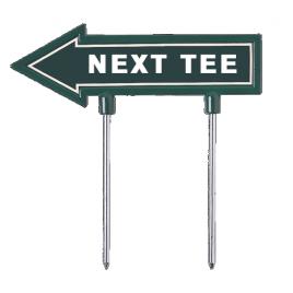 T J Golf Direction Arrow Signage 28cm Cast Aluminium