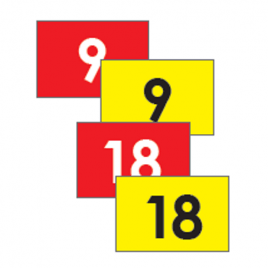 TJ 400 Denier Nylon Tie On Flags – Set of 9 (1 to 9) or (10 to 18)