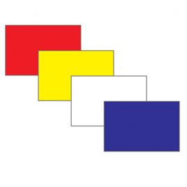 TJ 400 Denier Plain Nylon Velcro Flags- Singles