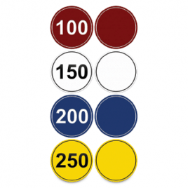 Eco Line Laminated Yardage Marker 8″ Plain