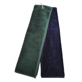 T J Golf Velour Tee Towels Tri-Folded