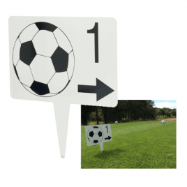 Footgolf Directional Sign (Arrow and Number)