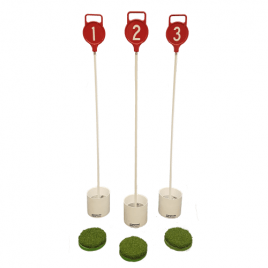 Set of 3 Putting Green Markers, Hole Cups and Cup Covers