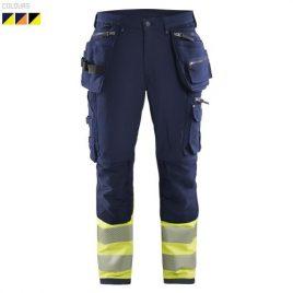 Hi-vis 4-way-stretch trousers