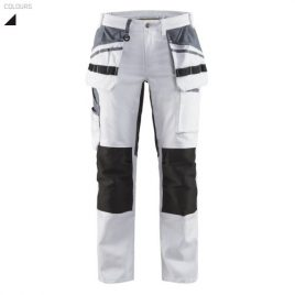 Ladies painter trouser with stretch panels