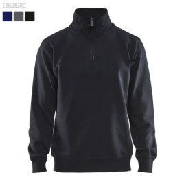 Half zipped college jersey